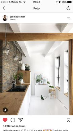 Gorgeous: clean white and wood