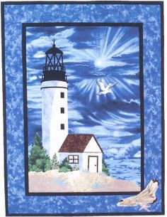 Lighthouse Quilt Wall Hanging Pattern - Applique Design