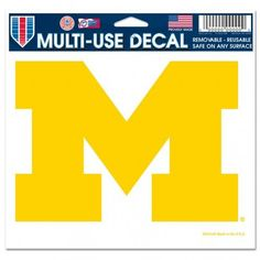 Michigan Wolverines Decal 5x6 Ultra Color