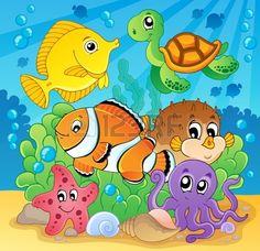 Coral fish theme image