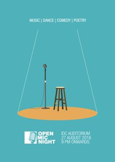 "Check out my @Behance project: ""Open Mic Night Poster""…"