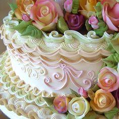 lambeth cake   Wedding Cake, English Over Piping / Lambeth Style
