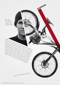 Honda bike poster—The extremely bold lines make this a very dynamic compositio. Honda bike poster—The extremely bold lines make this a very dynamic compositio. Poster Design, Book Design, Design Art, Print Design, Web Design, Design Ideas, Shape Design, Illustration Design Graphique, Art Graphique