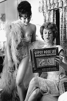 "Natalie Wood and Gypsy Rose Lee on the set of ""GYPSY"" (1962)"