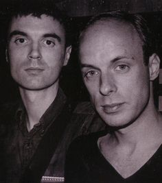 "moredarkthanshark: ""Brian Eno and David Byrne circa 1978 "" Brian Eno Roxy Music, Tom Tom Club, Progressive Rock, Post Punk, Glam Rock, Favorite Person, David Bowie, Mixtape, Rock And Roll"