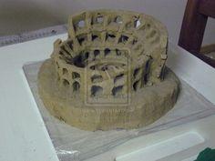 Colosseum - Clay Sculpture by Dahlia85.deviantart.com on @deviantART