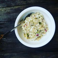 Coleslaw Couscous Salad For Lunch On A Sunny Day