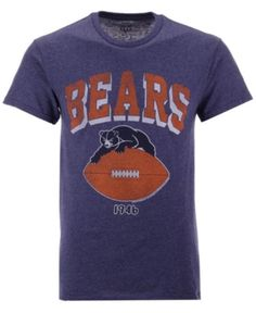 Authentic Nfl Apparel Men s Chicago Bears Shadow Arch Retro T-Shirt - Blue  XL db248dee2