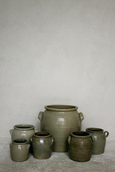 Old salt glaze pots