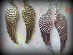 A Pair of Wings. Necklaces for Couples, Best Friends, Mother and Daughter. Brass or Silver Tone. on Etsy, $10.97 AUD