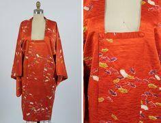 vintage satin kimono coat by shopKLAD on Etsy