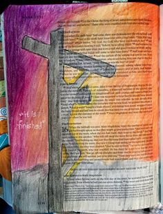 Good Friday, the Crucifixion   bible journaling