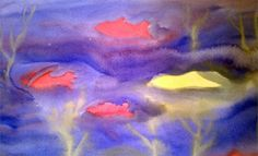 Waldorf ~ 3rd grade ~ watercolor painting