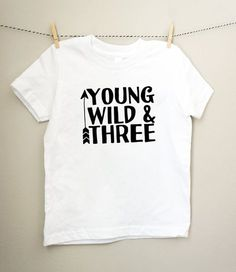 Young Wild And Three Tee In Black White