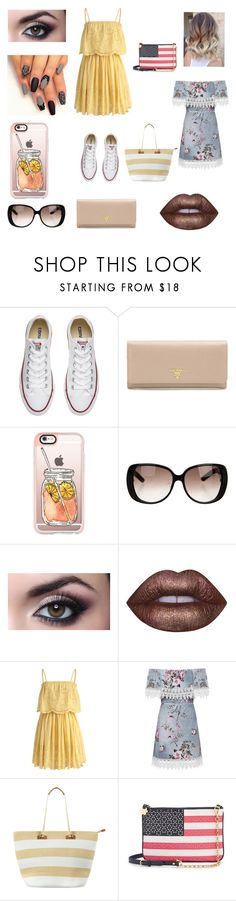 """Just to chill"" by kristenaablingas439 on Polyvore featuring Converse, Prada, Casetify, Gucci, Lime Crime, Chicwish, WearAll, Phase Eight and Draper James"