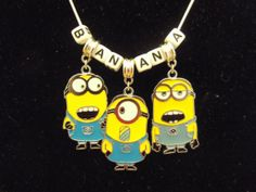 Despicable Me 2 Minions Banana Charm by ArtisanJewelleryUK on Etsy