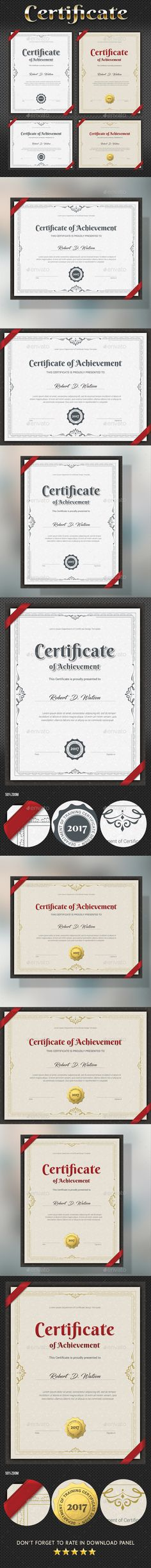 Certificate Template PSD & EPS Print Ready Template. Download here ...