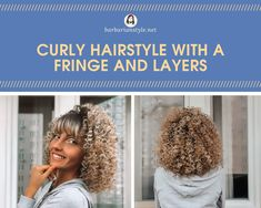 Searching for bangs curly hairstyles? Check hairstyles with bangs for natural curly hair. Choose the one that will fit you and create a superb look! Curly Hair With Bangs, Curly Hair Cuts, Curly Hair Styles, Oval Face Haircuts, Haircuts With Bangs, Natural Wavy Hair, Natural Hair Styles, Soft Balayage, Red Hair Bow