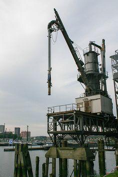 Kraan bij Maassilo, Rotterdam-Zuid.