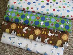 Easy DIY Swaddling Baby Blankets