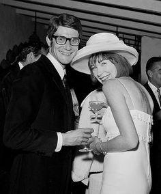 Yves Saint Laurant and Shirley MacLaine