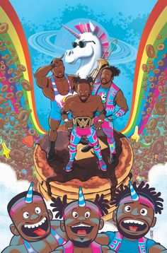 WWE: The New Day has its full creative team now and is set to release in The New Day Wwe, Xavier Woods, Wrestlemania 35, Wrestling Superstars, Wrestling Wwe, Wwe Pictures, Eddie Guerrero, Cowboys Football, Dallas Cowboys