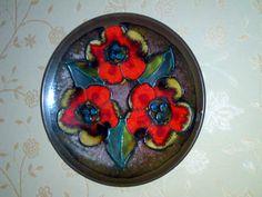Wandteller Plate 717/2 Blumen Flowers WGP  RUSCHA Keramik