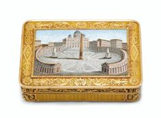 AN AUSTRIAN VARI-COLOUR GOLD SNUFF-BOX SET WITH A MICROMOSAIC PLAQUE VIENNA, CIRCA 1820, THE PLAQUE ITALIAN, ROME, CIRCA 1815