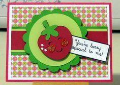 Cricut strawberry.  Shelley Lee Designs: Simply Charmed.