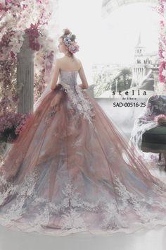 MaySociety — 32 Colorful Wedding Dresses by Stella De Libero Colored Wedding Dresses, Wedding Gowns, Elegant Dresses, Pretty Dresses, Moda Lolita, Fantasy Gowns, Fairytale Dress, Prom Dresses, Formal Dresses
