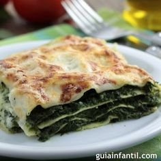 Spinach Lasagna Recipe – Are you ready for cheese hearty dish spinach lasagna you will love to make it. It is simply delicious and yum dish. Spinach lasagna with three types of cheese and herbs, layered with red sauce and noodles. Veggie Lasagna, Spinach Lasagna, Lasagna Noodles, Healthy Lasagna, Eggplant Lasagna, Lasagna Recipes, Vegetarian Recipes, Cooking Recipes, Healthy Recipes