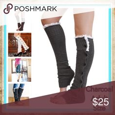 Charcoal Buttoned Down Leg Warmers Women Long solid button down Lace Knitted Leg Warmers boot cuff lace knit leg warmers  Description 100% New and high quality. Hot, Sexy, Wild ,Charming,Exquisite Smooth and soft feeling          Elasticity  Knitted           Both warm and thick texture, warm wearing.  ❄️️PRICE IS FIRM UNLESS BUNDLED❄️ Accessories Hosiery & Socks