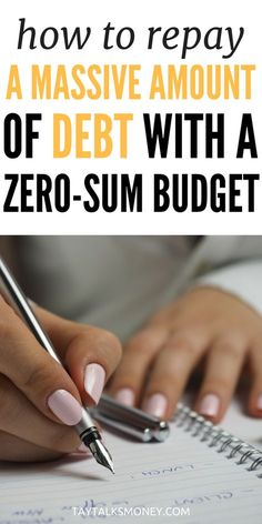 Need to repay debt or save more money? Using the zero sum budget instead of a traditional budget can jumpstart your efforts. Financial Information, Financial Tips, Financial Planning, Debt Repayment, Debt Payoff, Budgeting Finances, Budgeting Tips, Weekly Savings Plan, Debt Snowball