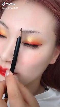 Eyebrow Makeup Tips, Makeup Tutorial Eyeliner, Eye Makeup Steps, Eyebrow Tutorial, Contour Makeup, Makeup Videos, Skin Makeup, Perfect Eyebrows Tutorial, Ulzzang Makeup Tutorial