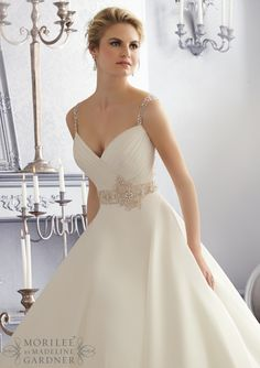 Wedding Dress  2679 Crystal Beaded Embroidery on a Silky Organza Wedding Gown