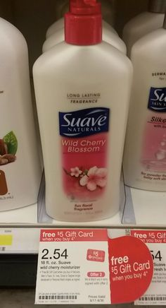 Suave Naturals LARGE Lotion Bottles Only $0.04 each at Target