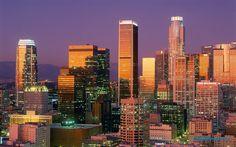 Los Angeles. . .  City of sky scrapers. . . .