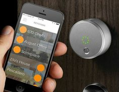 The August Smart Lock allows you to remotely lock and unlock your door, as well as distribute digital keys to friends and family.