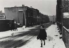 """weathercade: """" Snow in Bethnal Green, London 1955 Roger Mayne, May 1929 - June R. Snow Photography, Vintage Photography, Roger Mayne, Eugene Smith, Home Snow, Bethnal Green, William Eggleston, Light Year, Snowy Day"""