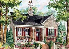 COOL house plans offers a unique variety of professionally designed home plans with floor plans by accredited home designers. Styles include country house plans, colonial, Victorian, European, and ranch. Blueprints for small to luxury home styles. 2 Bedroom House Plans, Cottage Floor Plans, Cottage House Plans, Craftsman House Plans, Country House Plans, New House Plans, Small House Plans, House Floor Plans, Craftsman Style