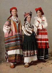 The folk costume of Ryazan and Tula.