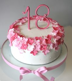 sweet floral cake