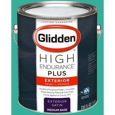 Glidden High Endurance Plus Exterior Paint and Primer, Bright Teal Surprise, #48GG 36/428, Blue