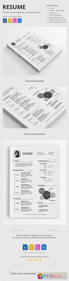 Resume Creative resume templates, Cv template and Font logo