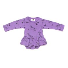 Purple unicorn onesie dress by Kira Kids from RemyRoo. www.remyroo.co.uk