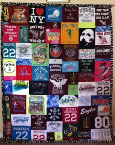 Zebra border on a huge mosaic t-shirt quilt!