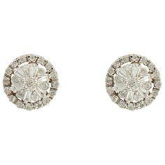 Buy Sharon Mills 9ct Gold Diamond Cluster Stud Earrings Online at johnlewis.com