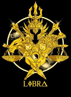 Armadura Dorada de Libra ♎ en un estilo barroco muuuuuy moderno. Créditos a su autor . Libra Tattoo, Zodiac Art, 12 Zodiac, Dbz, Knights Of The Zodiac, Fantasy Warrior, Cool Logo, Anime Comics, Coat Of Arms