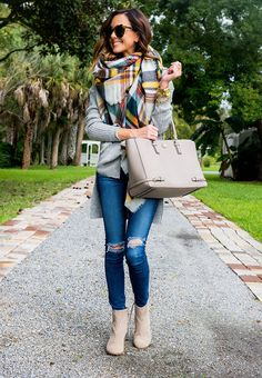 BP. Textured Knit Pullover *A STEAL! | AG 'The Legging' Ankle Jeans[almost identical for $88]|Shiraleah Plaid Blanket ScarfUNDER $50! [also love this one]| TOMS 'Lunata' Suede Bootie | Tory BurchRobinson Multi Tote* 25% with code FALLEVENT|Kendra Scott'Logan' Stud Earringsin Rose Gold|Gorjana+ GriffinTeagan Ringc/o|Michael Kors'Runway' Chronograph Watch, 39mm|Rustic CuffPersonalized Monogram Link Bracelet|Stella & DotRenegade Braceletin Gold|Karen WalkerNumber One…