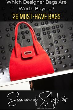 Which Designer Bags Are Worth Buying? With so many options, it can be overwhelming! Let me help you find the perfect ones to add to your collection! Business Casual Men, Red Handbag, Printed Bags, Mens Clothing Styles, Daily Fashion, Designer Bags, Clothes For Women, Style Inspiration, Collection